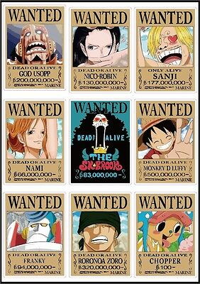 One Piece Latest Wanted Posters Luffy Chopper Usopp New World Luggage Stickers