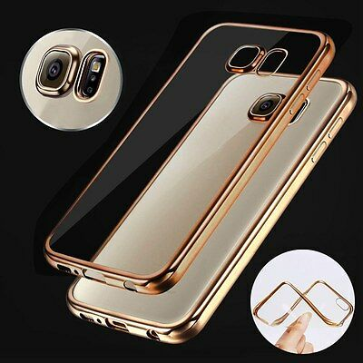 ShockProof Silicone Bumper Clear Slim Phone Case Cover For Samsung Galaxy Phone
