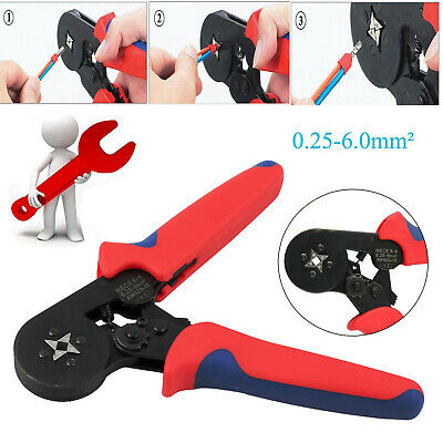 0.25-6mm² Bootlace Ferrule Hand Crimper Crimp Crimping Tool Pliers Wire Cord End