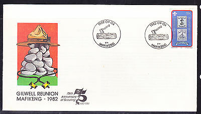 Bophuthatswana 1982 Scouting 75th Anniv  First Day Cover - Unaddressed