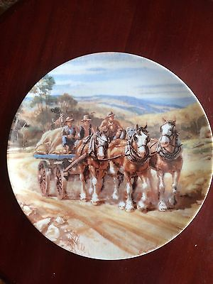 Returning To The Station Collected Plate Series Our Mighty Clydesdales
