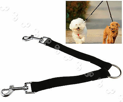 Double Ended Dog Lead For 2 Dogs 2 Way Coupler Leash Duplex Walking