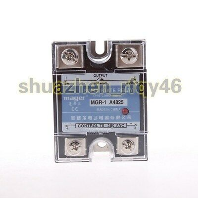 New MGR-1 A4825 240-480V 25A AC to AC Solid State Module Relay w Cover