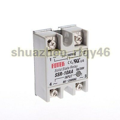 New SSR-10AA AC 24-380V Output AC 80-250V Input Phase Solid State Relay