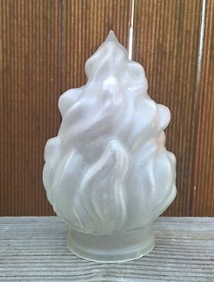 Antique 1930s Art Deco Flame Light Shade - Old Vintage Lamp Cover