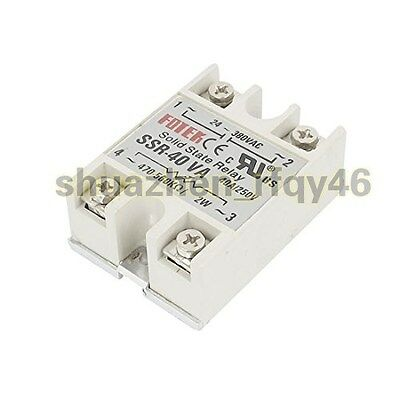 New SSR-40VA 40A 250V Metal Base Resistance Regulator Solid State Relay