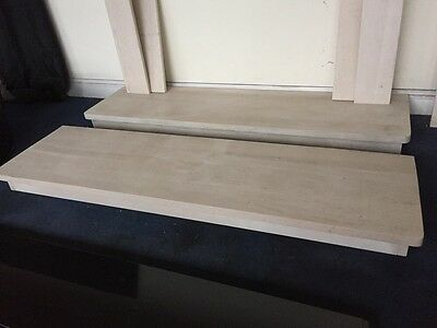 Limestone Fireplace Hearth 153 X 42.5 And Sits 10cm High