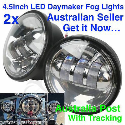 2 x 4.5''inch 30W Harley Davidson CREE LED Daymaker Driving Fog / Passing Lights