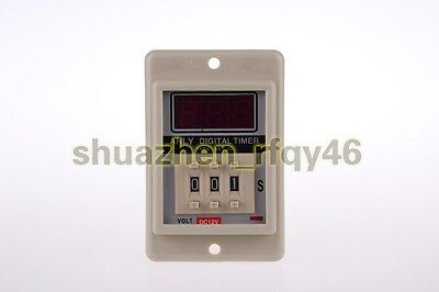ASY-3D AC/DC 12V 8 Pin 999 Second Digital Timer Time Delay Relay