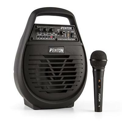"""Portable Pa System Wirless Audio Party Battery Microphone Dj 6"""" Woofer Speaker"""