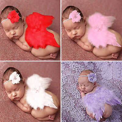 Newborn Baby Girls Boys Angel Wings Costume Photo Photography Prop Outfits