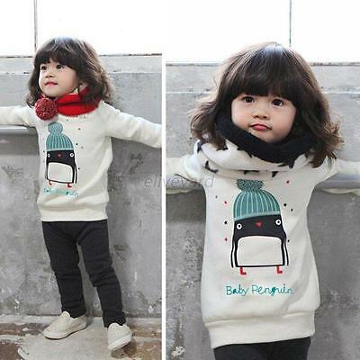 New Kids Girls Long Sleeve T-Shirt Tops Sweater Sweatshirt Baby Tee Pullover Top