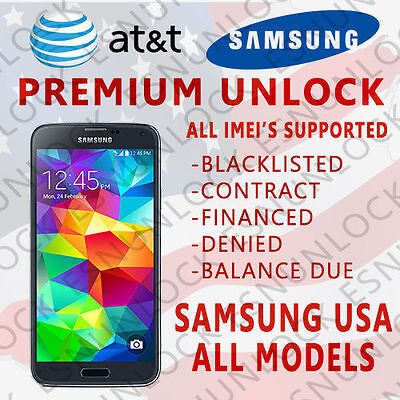 Samsung Unlock Code Service Galaxy S8, S7, S6, Note 5, 4, 3, Active & Edge  At&T