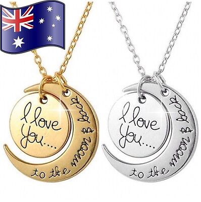 I Love You To The Moon And Back Pendant Necklace Family Gift & Free Gift Pouch