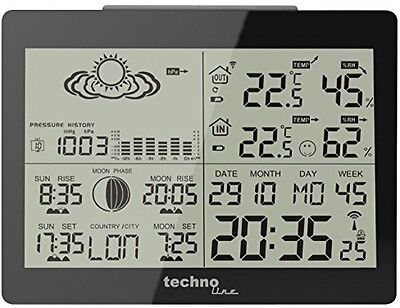 Technoline WS 6760 Weather Station And Radio Controlled Clock Timing Signal