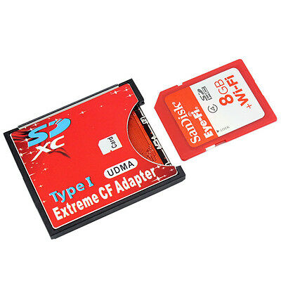 TOP SDXC SDHC WIFI SD to Type I Compact Flash Card CF Adapter Max Support 2TB
