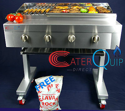 4 Burner Gas Char grill Charcoal Grill  BBQ Grill  Heavy Duty For Commercial Use