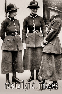 Photo Taken From A 1919 Image Of Female  Police Officer
