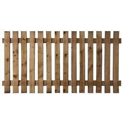 Wooden Picket Fence Panel - Treated Timber Fencing - 6x2 - 6x3 - 6x4