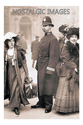 Photo Taken From A 1912  Image Of Suffragette Mabel Capper Arrested At Bow St.