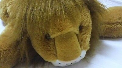 """Animal Alley Large Laying Lion Plush 27"""" VERY SOFT CUDDLY Toys R Us"""