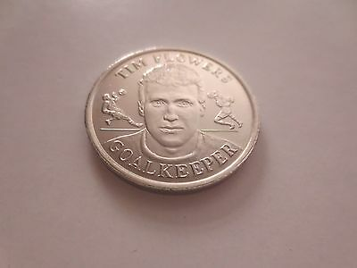 Tim Flowers England Football Coin 1998 Fifa World Cup In France Blackburn Legend