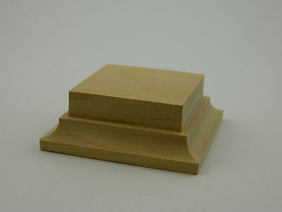 Wooden base in alder for foot figure 54-60mm
