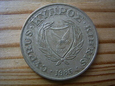 1985  Cyprus 20 Cent Coin Collectable