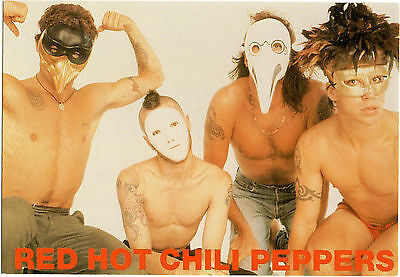 "C 362 ""Red Hot Chilli Peppers""Publicity Postcard"