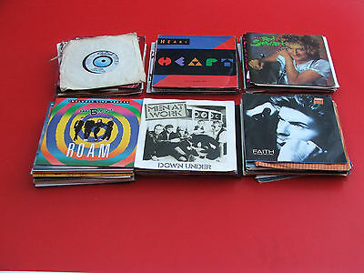 "Job lot of 87 7"" vinyl records singles 45rpm  mainly s 80`s and odd others"