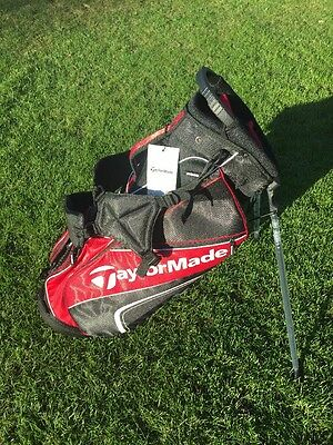 'NEW 2016' Taylormade Pro Stand Golf Bag 4.0 Bag - Black / Red. Double Strap