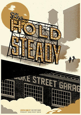 The Hold Steady Concert Poster Limited Edition Screen Print By Telegramme