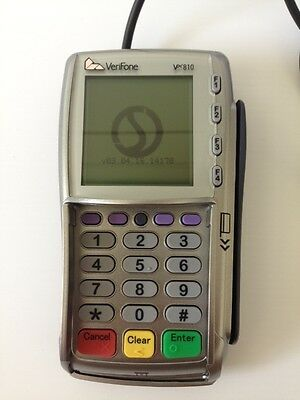 VeriFone VX810 PDQ Chip & Pin Pad Terminal + Cable Power Supply