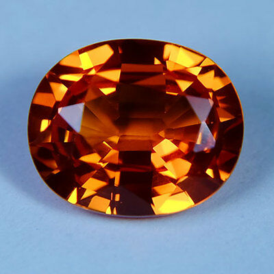 6.70ct.AWESOME VIVID PADPARADSCHA SAPPHIRE OVAL GEMSTONE