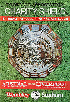 Charity Shield August 11 1979 Arsenal V Liverpool