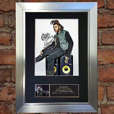 THE WEEKND Abel Tesfaye Autograph Mounted Signed Photo RE-PRINT A4 636