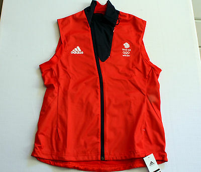 Team GB Training Vest Sochi Olympic Gilet Great Britain ATHLETE ISSUE BNWT UK 16
