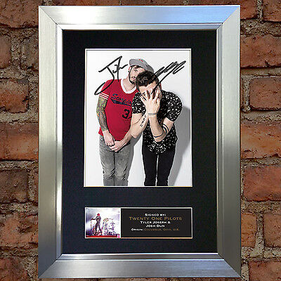TWENTY ONE PILOTS Signed Autograph Mounted Photo Reproduction A4 637