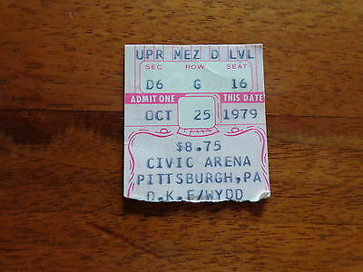 Concert ticket stub JETHRO TULL Oct 1979 Civic Arena Pittsburgh PA $8.75
