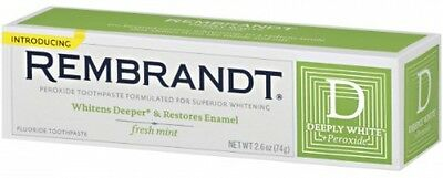 REMBRANDT Plus Premium Whitening Toothpaste with Fluoride and Peroxide Fresh ...