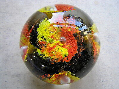 Totland Bay Glass Isle of Wight Michael Rayner Signed Paperweight