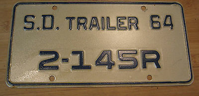 1964 South Dakota Trailer License Plate Expired 2 145R