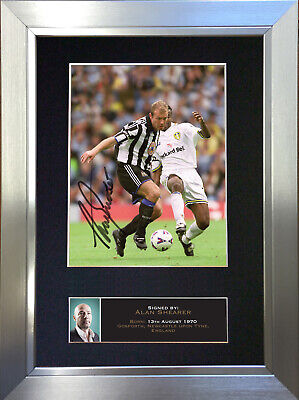 ALAN SHEARER Newcastle Signed Autograph Mounted Photo REPRODUCTION PRINT A4 640