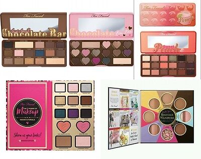 New &Too Faced Chocolate Eye Shadows Blushers Palette Love Pressed Powder Makeup