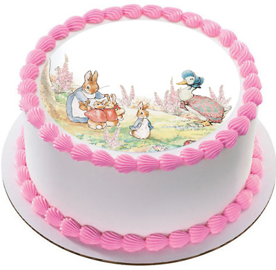 Peter Rabbit edible wafer cake topper baby shower 1st birthday first christening