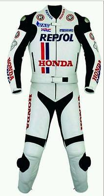 HONDA-REPSOL Motorcycle/Motorbike Cowhide Leather Suit Racing Bike (Replica)