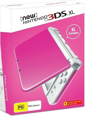 Nintendo NEW 3DS XL PINK and WHITE Console AUSTRALIAN STOCK PAL  *Brand New*