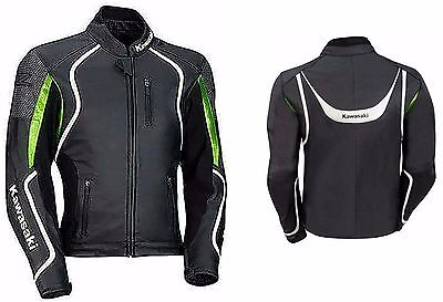 KAWASAKI-Motorbike/Motorcycle Leather Jacket Racing Biker Cowhide Leather (Rep)