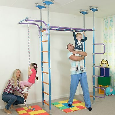 Huge Kids Indoor Playground Play Set With Equipment Room / WallBarz Jungle Dome
