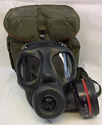 British Army Sr6-2 Gas Mask,filter & Field Bag 1982 Size S